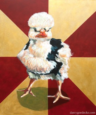 "Badass Chick #2 Acrylic on Canvas 50 x 60"" 2008"